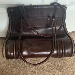 Trevero leather structured shoulder bag